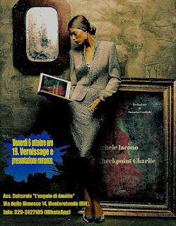 """L'Angolo di Amelie - Cineclub, Music & Theatre""""Checkpoint Charlie"""". Presentazione libro & vernissage."""