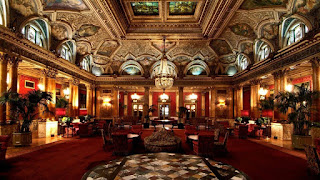 Inside the sumptuous Grand Hotel Plaza in Rome
