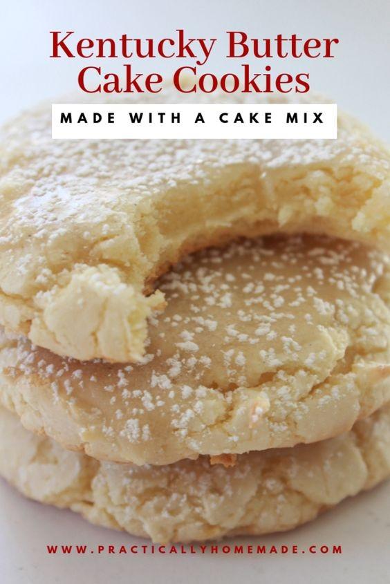 Kentucky Butter Cake Cookies