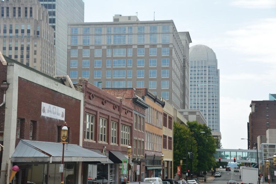 Vue sur les buildings de Winston-Salem