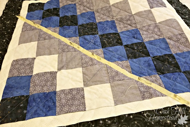 How to quilt straight lines.