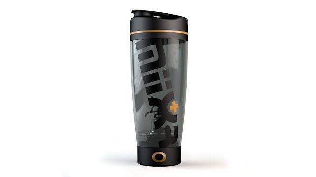 MiiXR Protein Mixer Bottle- Black and Orange