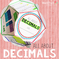 Decimals Math Project - Math center