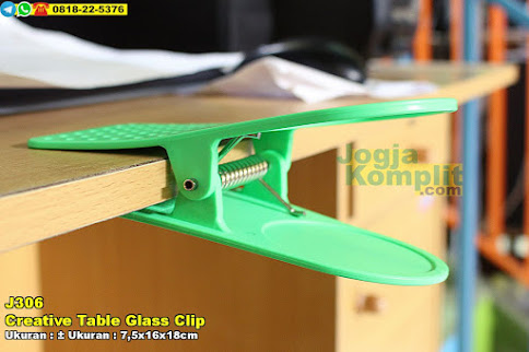Jepitan Tempat Gelas Creative Table Glass Clip