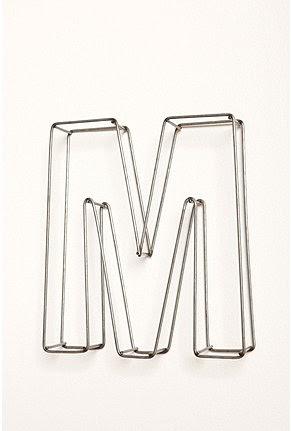 Kelsey M. Design: Metal Monogram Letters