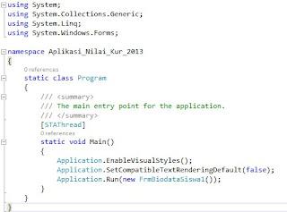 Perbedaan Bahasa Pemrograman VB.NET dan Bahasa C Sahrp
