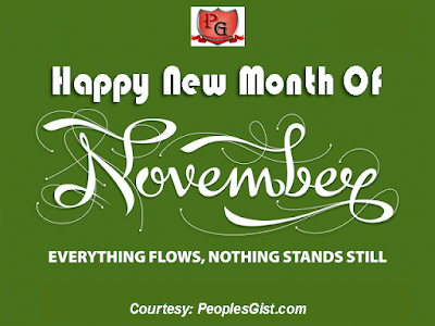 Happy New Month Of November