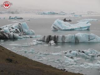 Laguna glaciar Jökursarlón en Islandia
