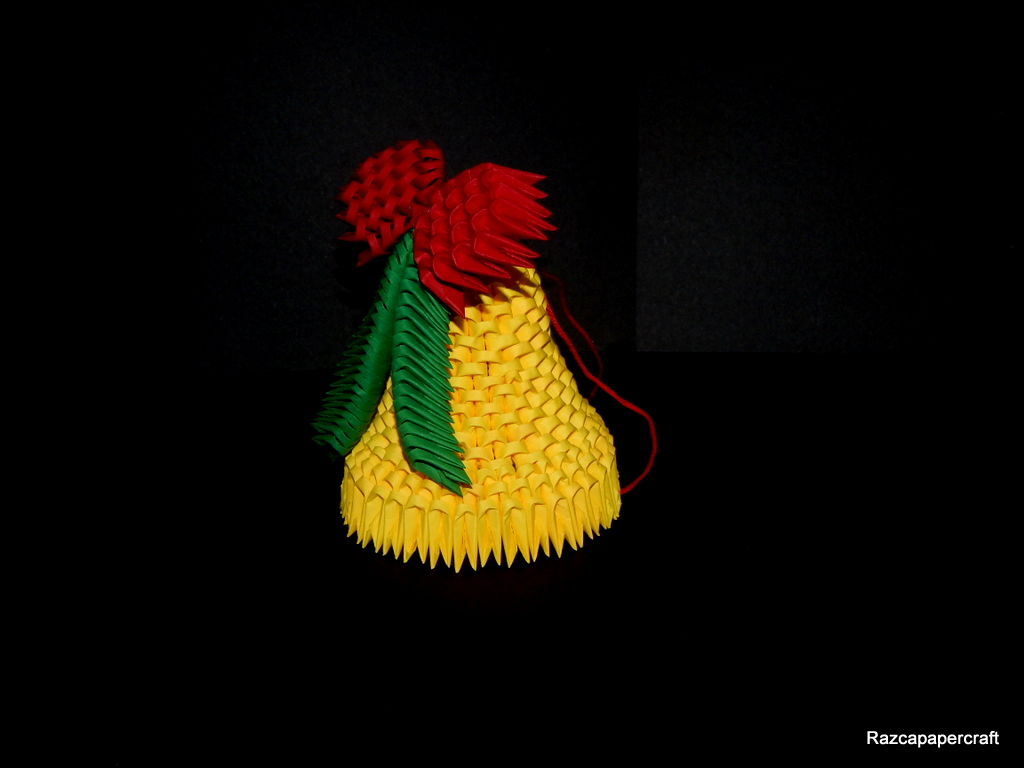 Razcapapercraft: 3D origami Christmas bell - photo#48