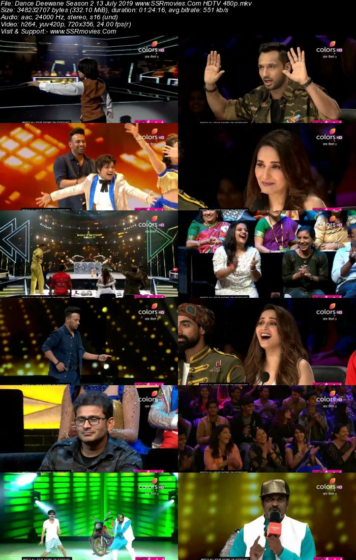 Dance Deewane Season 2 13 July 2019 HDTV 480p Full Show Download