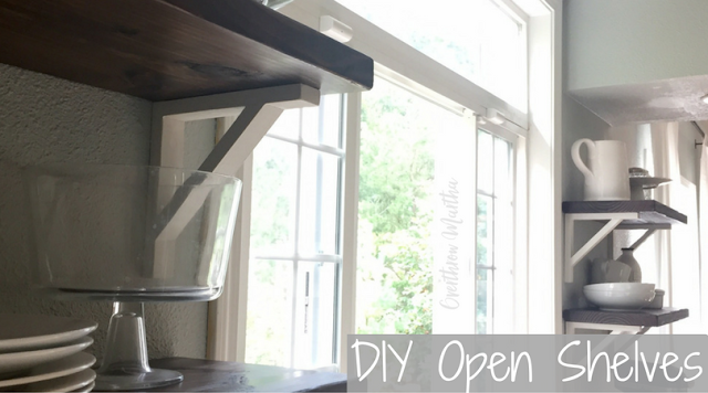 DIY Kitchen Shelving that is inexpensive and easy to make