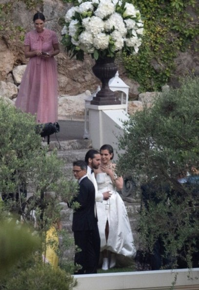 wedding of Charlotte Casiraghi and  Dimitri Rassam at the Villa La Vigie