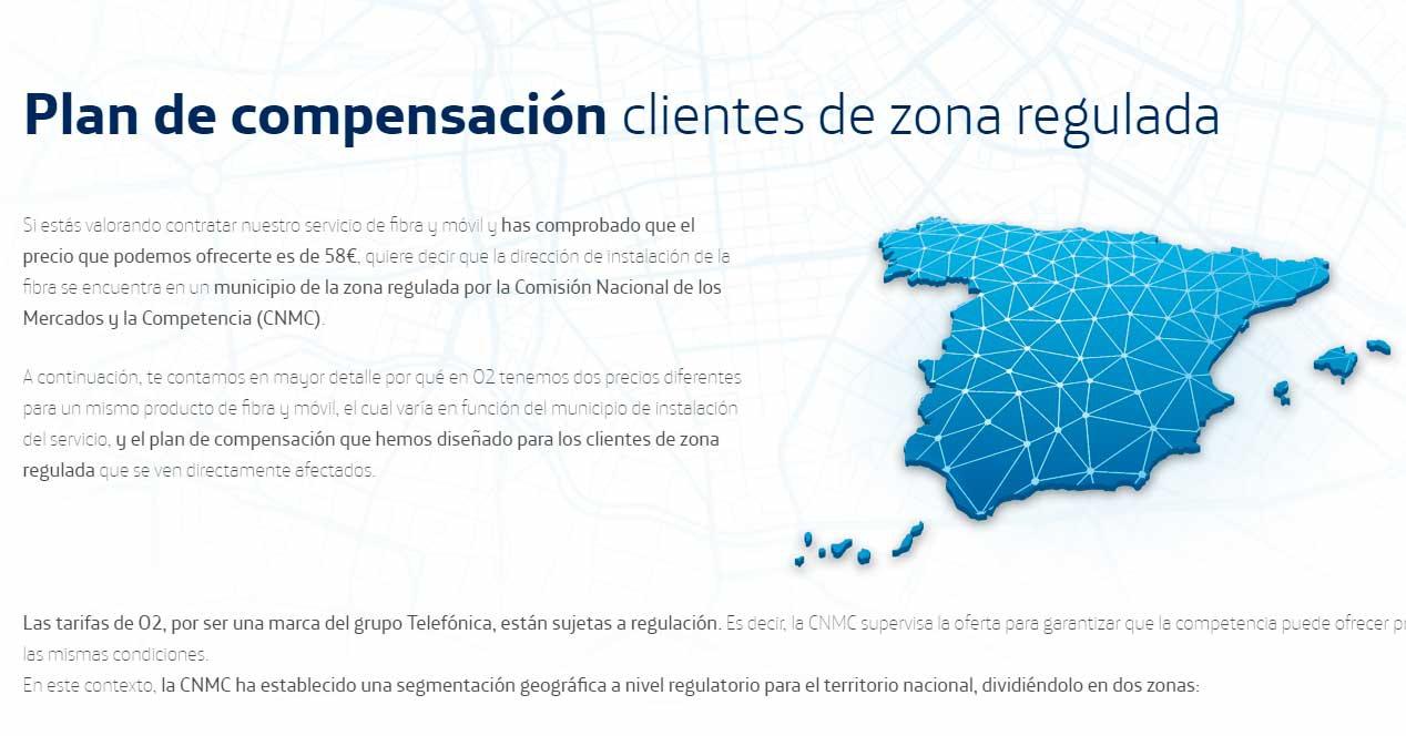 O2 zonas no reguladas compensación