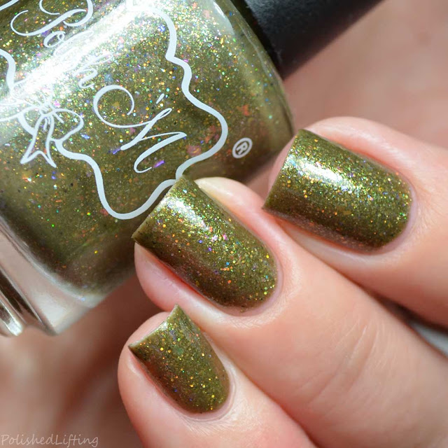 yellow holographic nail polish