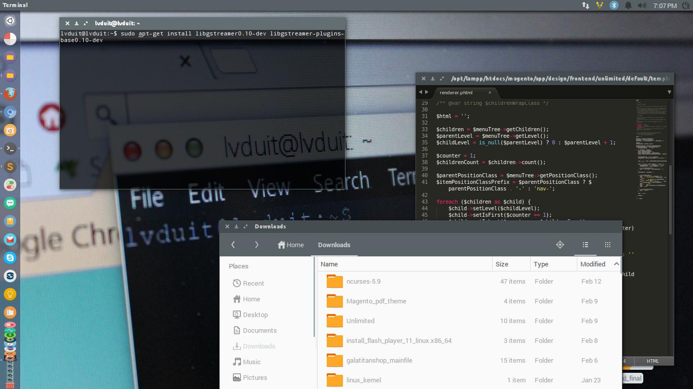 Linux - Giao diện phẳng cho Ubuntu