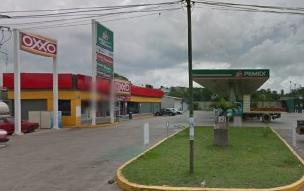 Asaltan gasolineria en la localidad de El Castillo Veracruz este Jueves