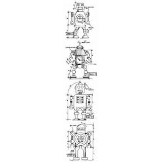 Craft Queen Blog: Robot cards