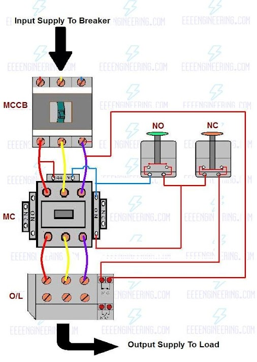 Dol Motor Control Wiring Diagram : How to wire up a dol starter single phase motor