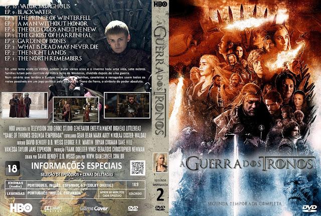 Capa DVD A Guerra Dos Tronos Segunda Temporada [Exclusiva]