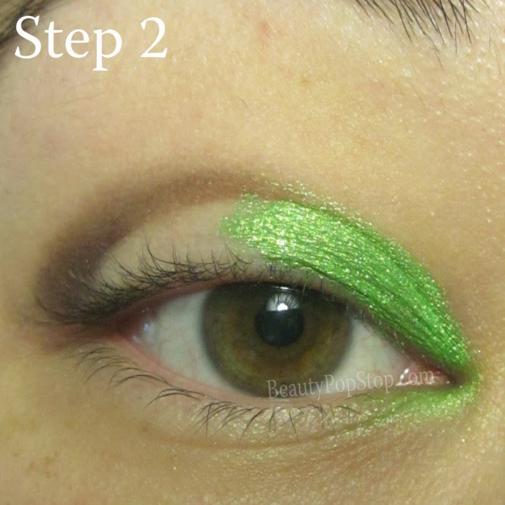 st patrick's day makeup tutorial using sugarpill absinthe