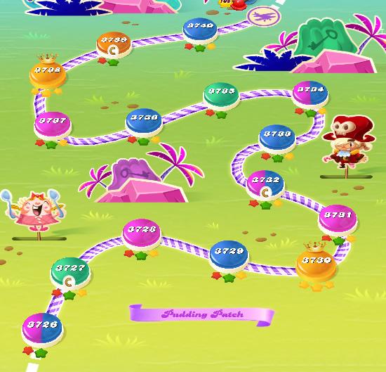 Candy Crush Saga level 3726-3740