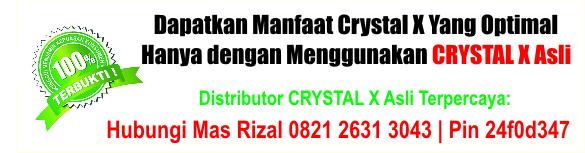 jual crystal x di samarinda