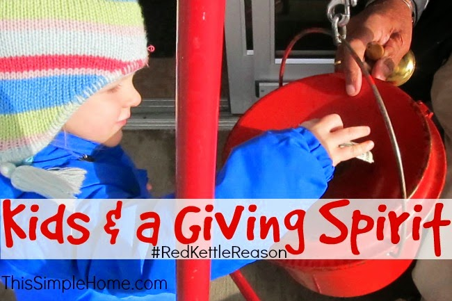 Teach children to give with a generous spirit.