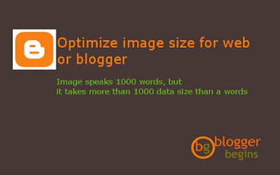 Optimize image size in web or blog