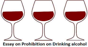 Essay On Prohibition On Drinking Alcohol  Wikiessays