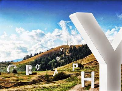 Tipografía 3D con un mensaje por la tierra