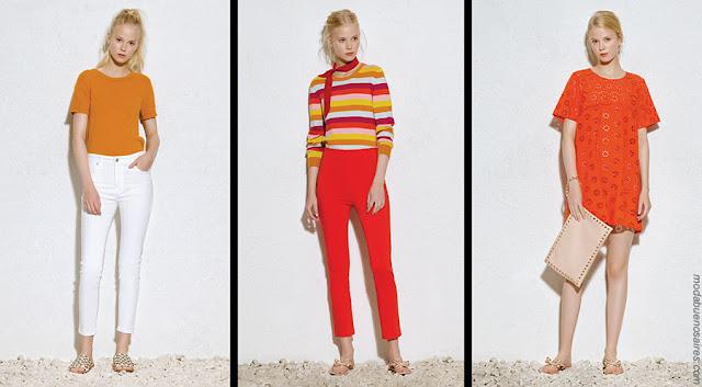 Moda verano 2018. Moda 2018 ropa de mujer pantalones, blusas, tops, shorts moda 2018.