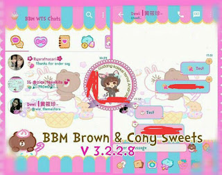 BBM Mod Brown and cony sweets V3.3.1.24 Apk