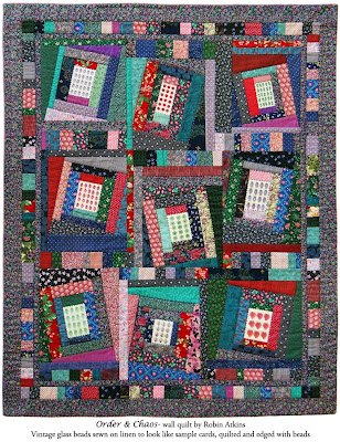 Robin Atkins, beaded quilt, Order & Chaos
