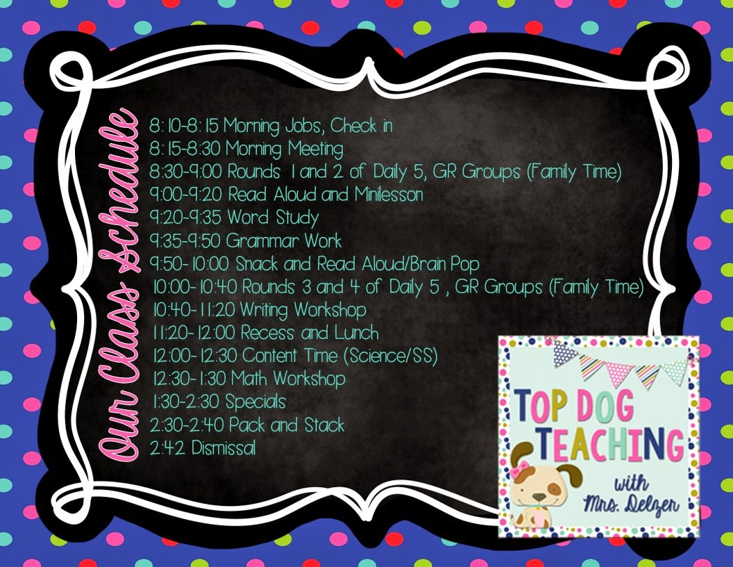 Top Dog Teaching : My (Jam-Packed) 2nd Grade Daily Schedule
