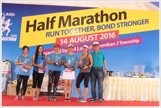 21 km WOMEN OPEN Top 5 IJM Half Marathon 2016