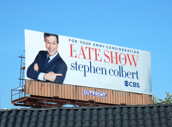 Late Show Stephen Colbert 2016 Emmy FYC billboard