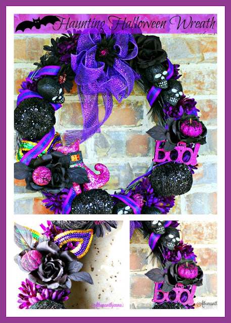 decorating-wreath-halloween-purple-black-athomewithjemma