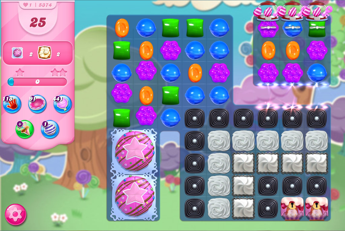 Candy Crush Saga level 5374