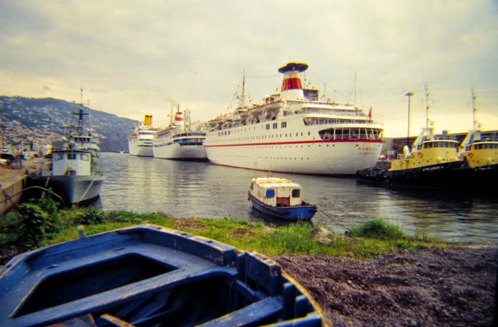 old times: some cruise ships in Funchal port for nearly two decades