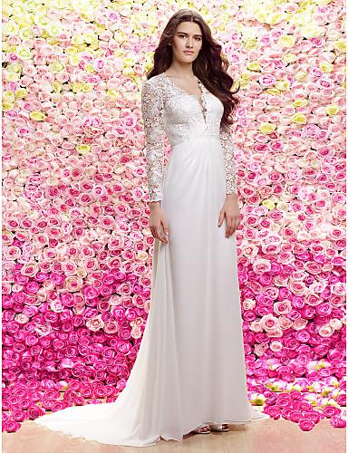 vestidos de novia con manga caida
