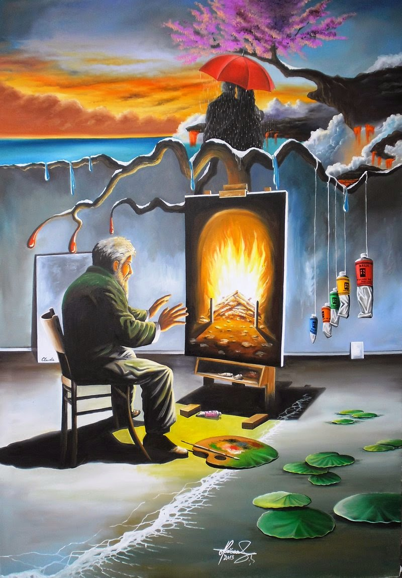 04-Burning-Memories-Raceanu-Mihai-Adrian-Surreal-Oil-Paintings-www-designstack-co