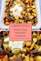 steak and egg traybake