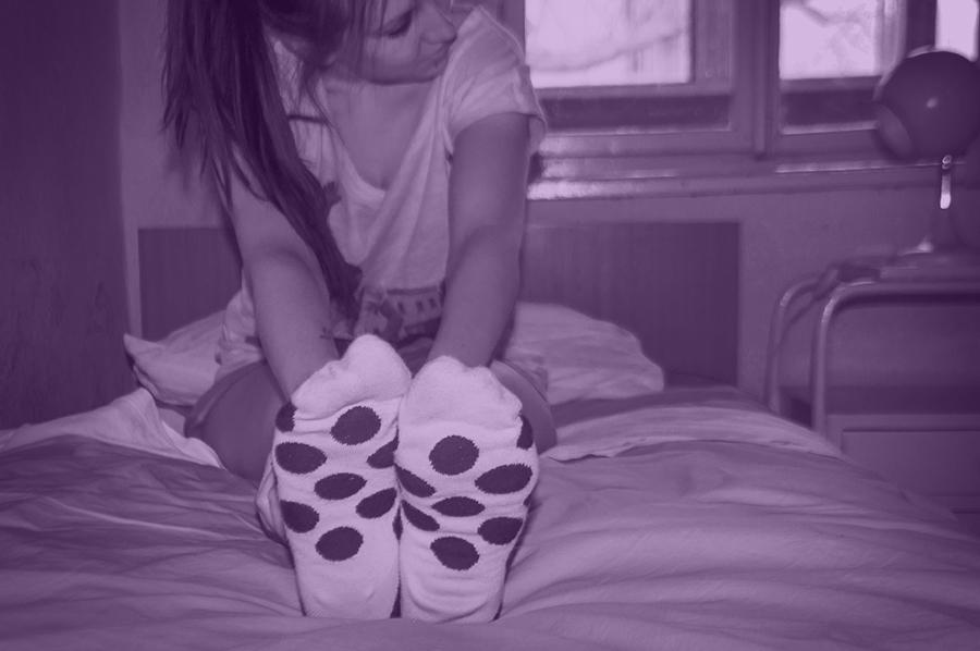 For Peet's Sake blog polka dot socks girl
