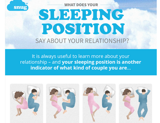 the way you sleep says about your relationship