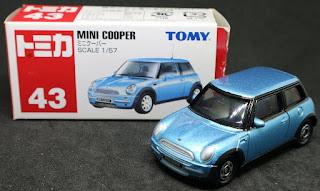 Tomica - 43 Mini Cooper, 紙盒裝