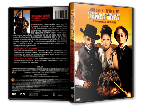 Capa DVD As Loucas Aventuras de James West (Oficial)