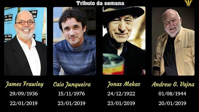 CAIO JUNQUEIRA, JAMES FRAWLEY, JONAS MEKAS E ANDREW VAJNA