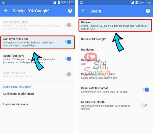 cara menggunakan oke google di Android