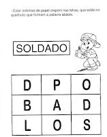 ATIVIDADES DIA DO SOLDADO