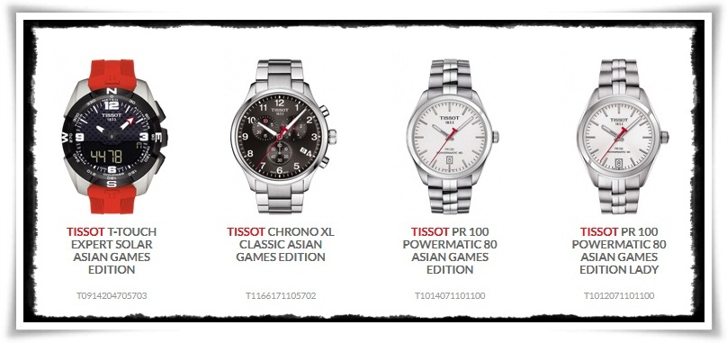 Tissot hadirkan empat jam tangan limited edition Asian Games